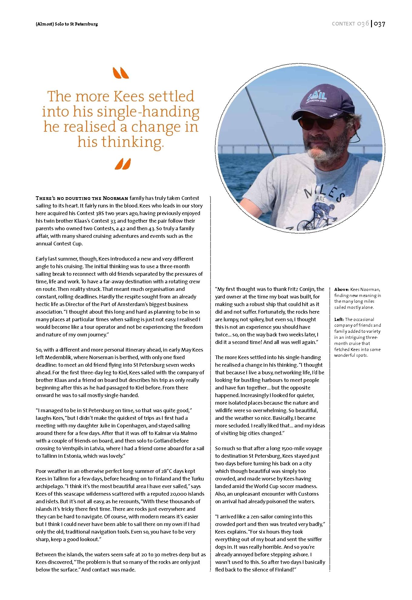 Context Magazine | Contest Yachts